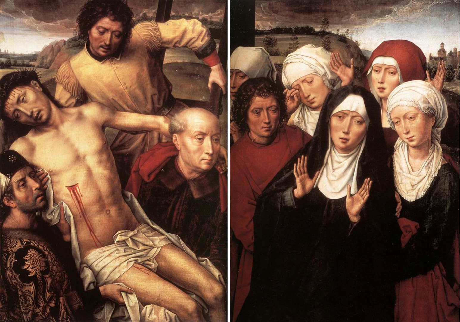 Hans Memling - Diptych with the Deposition