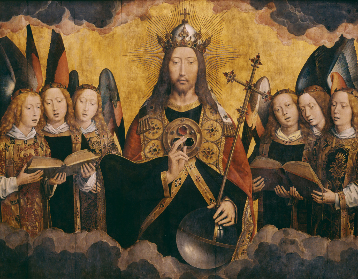 Hans_Memling - Christ with Singing Angels