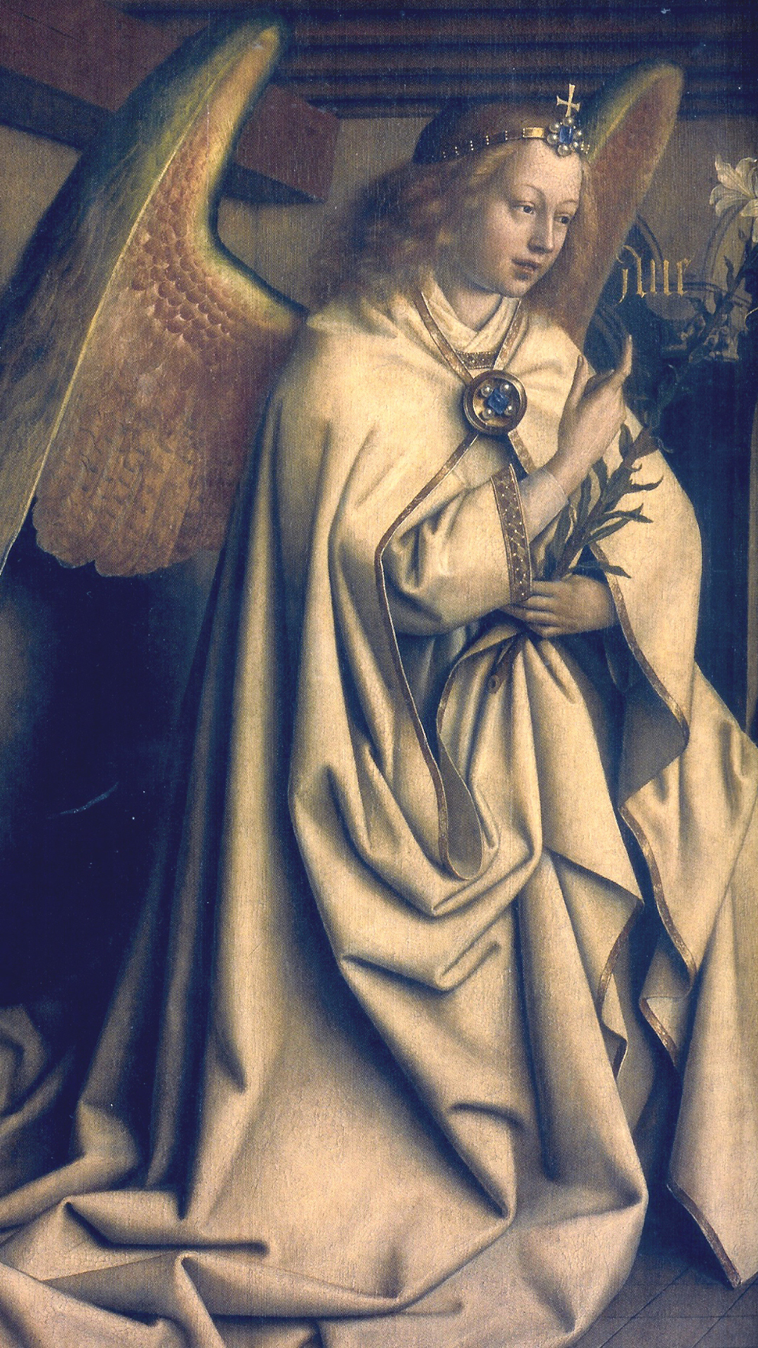 Jan van Eyck - The Archangel Gabriel
