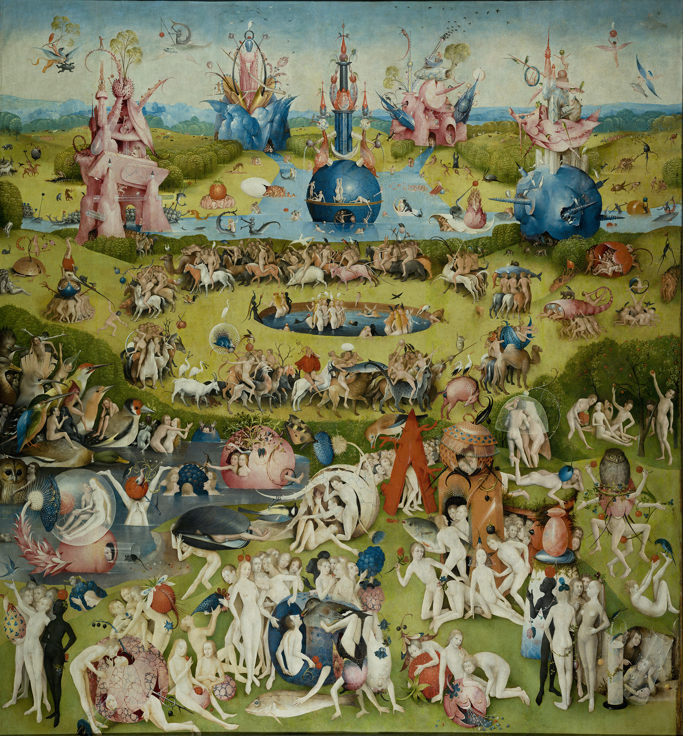 The Garden of Earthly Delights Jheronimus Bosch central panel